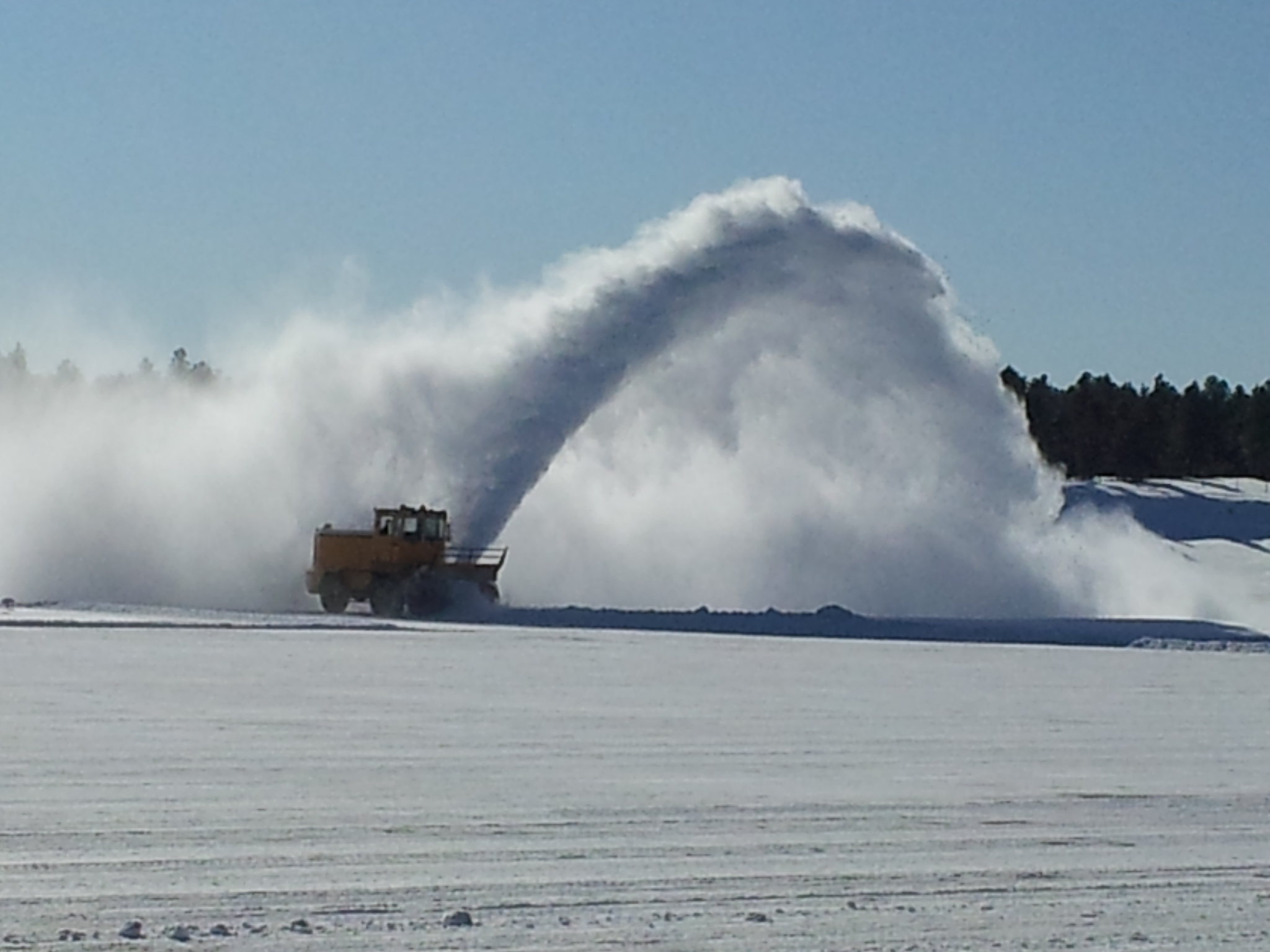 Clearing the Runway on Feb. 20, 2012